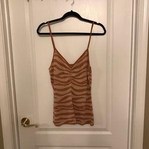 Anthropologie tiger knit tank